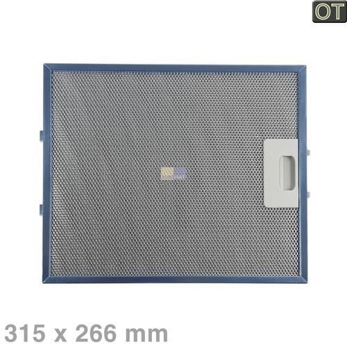 Klick zeigt Details von Fettfilter eckig Metall 315x266mm