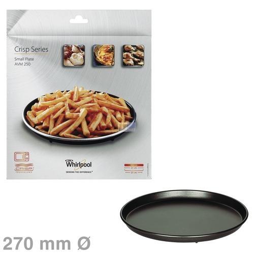 Klick zeigt Details von Drehteller Crisp-Platte 270mmØ klein, Whirlpool AVM250