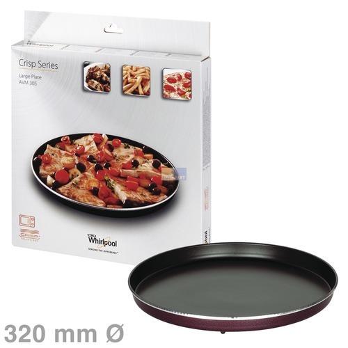 Klick zeigt Details von Drehteller Crisp-Platte 320mmØ groß, Whirlpool AVM305