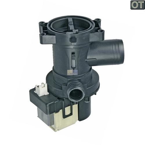 Klick zeigt Details von Ablaufpumpe mit Pumpenstutzen und Flusensiebeinsatz Whirlpool 481010584942 Original