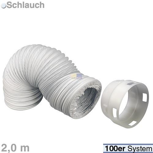 Abluftschlauchset 100erR 2m PVC