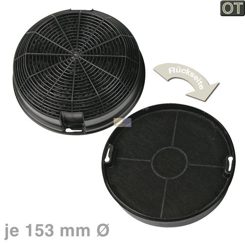 kohlefilter whirlpool 481248048212 amc023 original 153mm f r dunstabzugshaube 2stk onlineshop. Black Bedroom Furniture Sets. Home Design Ideas
