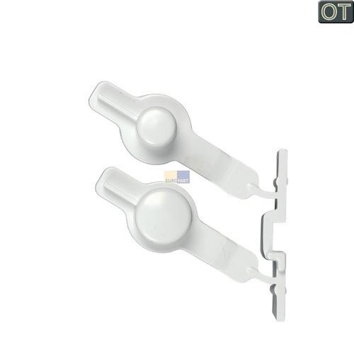 Klick zeigt Details von Drucktaste Tastenkappe 2-fach Whirlpool 481251318172 Kappe für Trockner