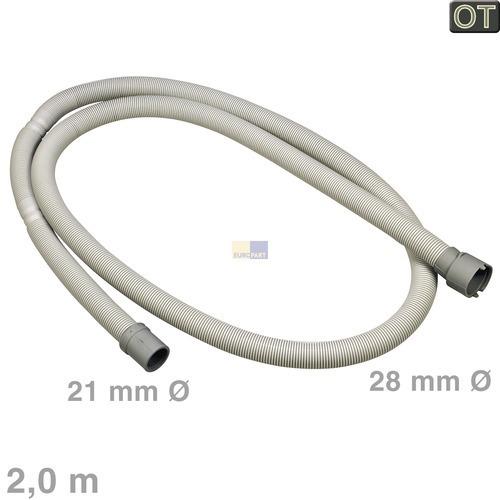 Klick zeigt Details von Ablaufschlauch 2,0m OT! Whirlpool 481253029419 Entleerungsschlauch Spülmaschine