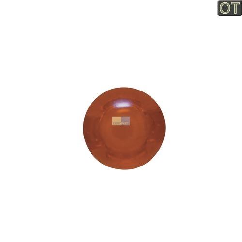Klick zeigt Details von Lampenabdeckung Ø7mm gelb, rund  Bauknecht/Whirlpool 481946279748