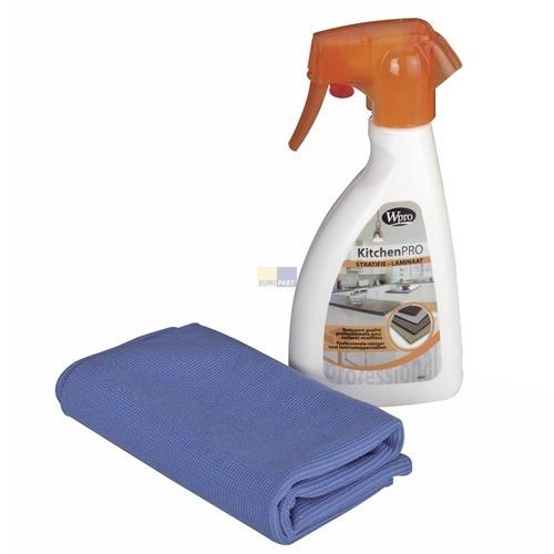 Klick zeigt Details von Küchen-Reinigungsset für beschichtete Flächen Wpro KLA251 Laminat Reiniger