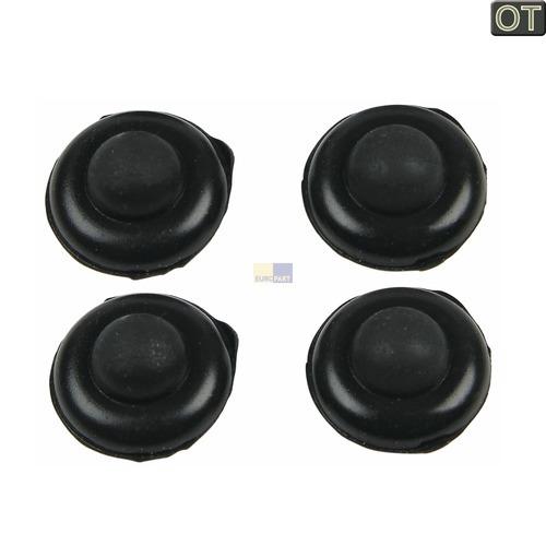 Klick zeigt Details von Gummifuß für Gasmuldengitter, 4 Stück