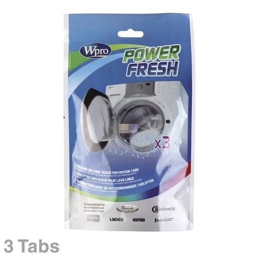 Klick zeigt Details von Waschmaschinen-Geruchsentferner Wpro PowerFresh, 3 Tabs