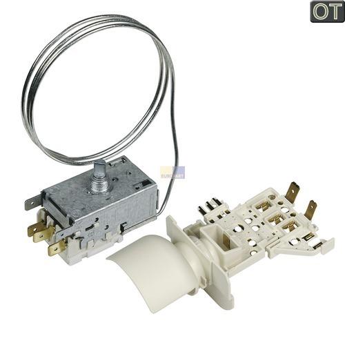 Klick zeigt Details von Thermostat K59-S1893 700mm Kapillarrohr 3x6,3mm AMP + Lampenfassung