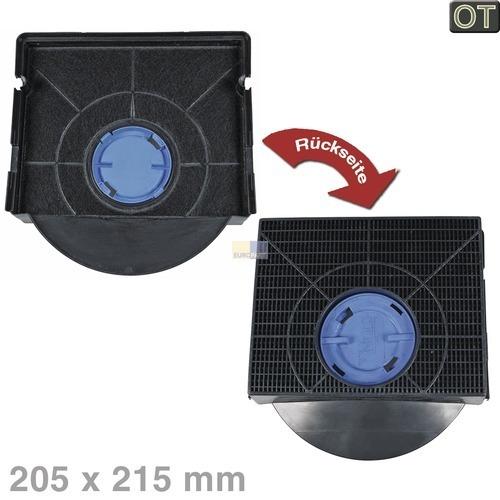 Kohlefilter Wpro 484000008581 CHF303 Original 205x215mm für Dunsthaube