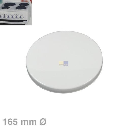 Klick zeigt Details von Kochplattenabdeckung 165mmØ weiß Wpro 484000008620 CQB170 Original