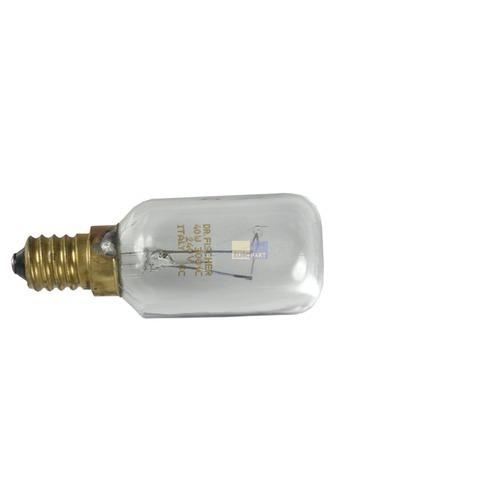 Klick zeigt Details von Lampe E14 40W 29mmØ 76mm 240V Wpro 484000008841 LFO136 für Backofen