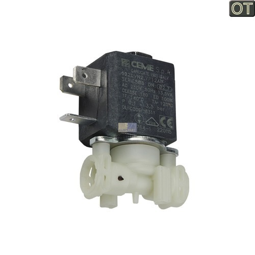 Klick zeigt Details von Magnetventil mit zwei Abgängen  DeLonghi 5213218311