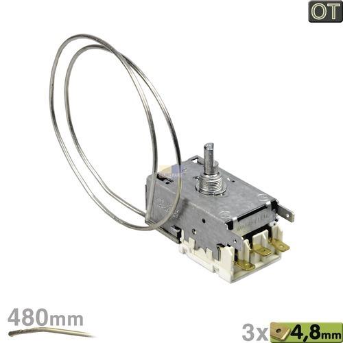 Klick zeigt Details von Thermostat K59-L2126 Ranco 480mm Kapillarrohr 3x4,8mm AMP
