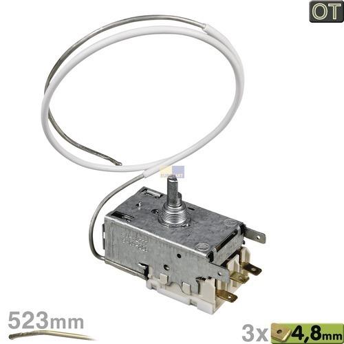 Klick zeigt Details von Thermostat K59-S2777 Ranco 523mm Kapillarrohr 3x4,8mm AMP