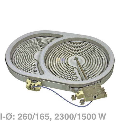 AEG/Electrolux Strahlheizkörper 260x165mm 2300/1500W 230V oval, AEG 661333555