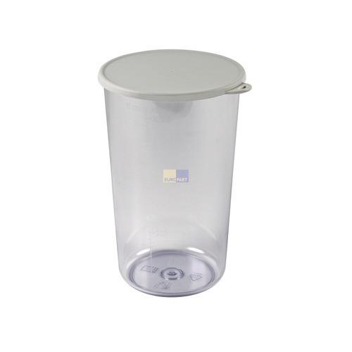 Klick zeigt Details von Behälter Mixbecher Messbecher mit Deckel für Stabmixer, Skalierung bis 600ml