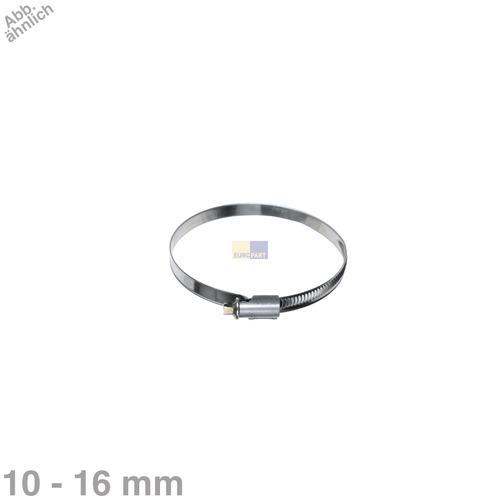 Klick zeigt Details von Schlauchschelle 10-16mmØ Chromstahl für Zulaufschlauch Waschmaschine Geschirrspüler 1Stk