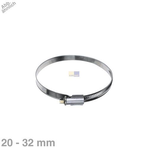 Klick zeigt Details von Schlauchschelle 20-32mmØ für Ablaufschlauch Waschmaschine Geschirrspüler 1Stk