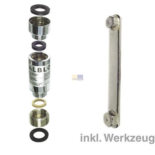 Klick zeigt Details von Kalkblock Waschmaschine Indesit Ariston C00089789 Universal-Dauermagnet-Einsatz