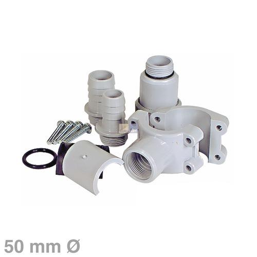 Klick zeigt Details von Anbohrschelle für 50mmØ Siphon