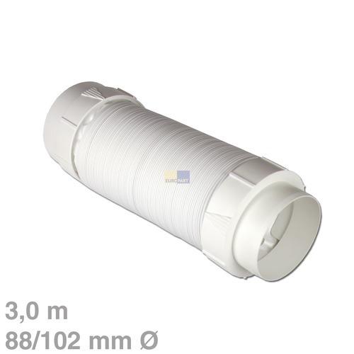 Klick zeigt Details von Abluftschlauch+Adapter 3mPVC