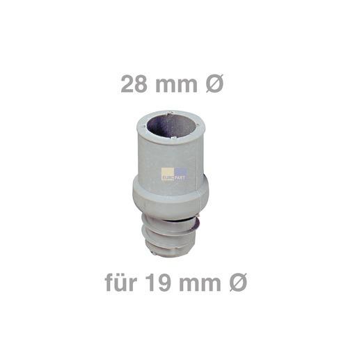 Klick zeigt Details von Ablaufschlauch-Endstück 28mmØ für 19mmØ
