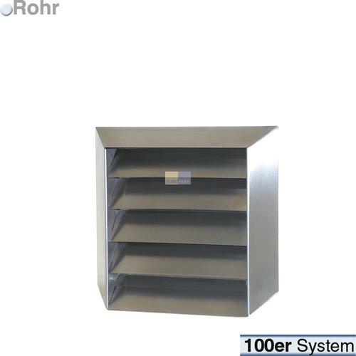 Klick zeigt Details von Außengitter 100er(R) Edelstahl