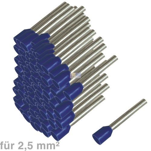 Klick zeigt Details von Aderendhülsen 2,5 mm² blau