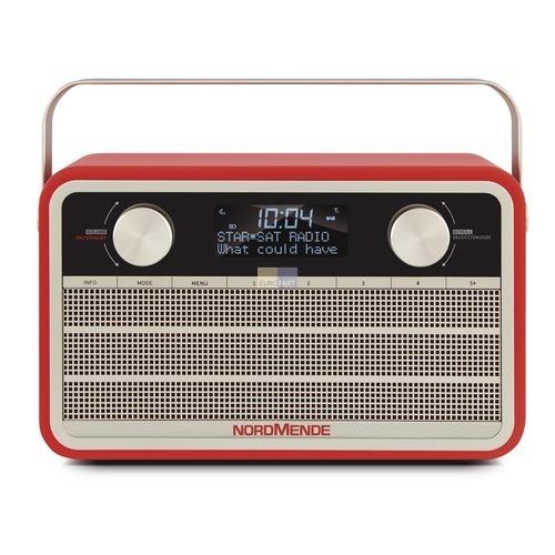Klick zeigt Details von Digitalradio Nordmende 78-3001-00 Transita 120 rot