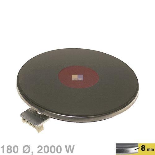 Klick zeigt Details von Blitz-Kochplatte 180mm, 2000W 230V  EGO 12.18463.194