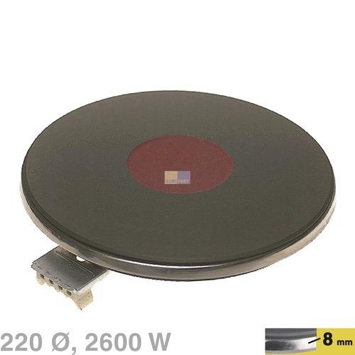 Klick zeigt Details von Blitz-Kochplatte 220mm, 2600W/230V