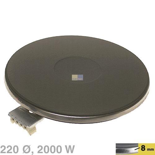 Kochplatte 2.000W / 400V, 220mm