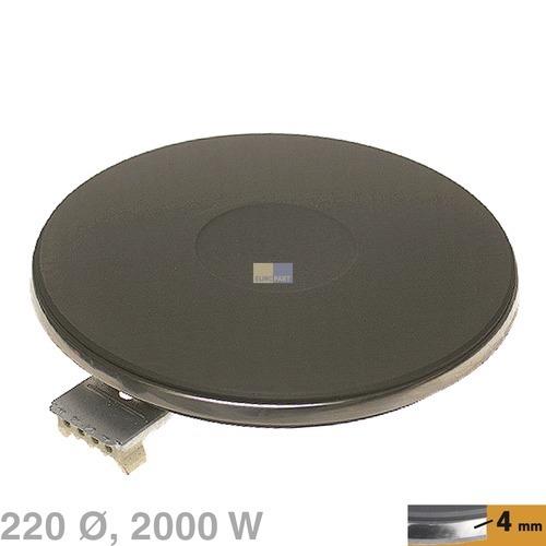 Klick zeigt Details von Kochplatte 220mm, 2000W 230V  EGO 13.22453.040