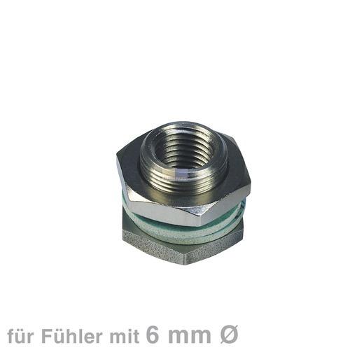 Klick zeigt Details von Stopfbuchse 6-kant-Mutter Verschraubung für Fühler 6mmØ