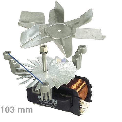 Heißluftherdventilator kpl. Whirlpool Bauknecht Funktionika Functionika Ignis Ikea Juno Philips Algor IKEA