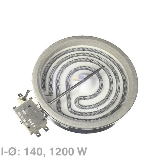 Klick zeigt Details von 1 Kreis Strahlheizkörper 1200W  EGO10.74631.004