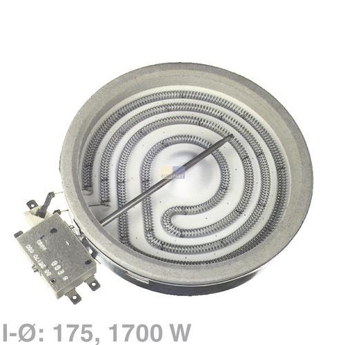 Klick zeigt Details von 1 Kreis Strahlheizkörper 175mm, 1700W  EGO 10.78631.004