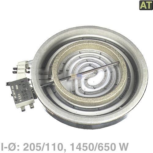Klick zeigt Details von Zweikreis-Strahlheizkörper 205/110mm  2100/650W, EGO 10.71261.004