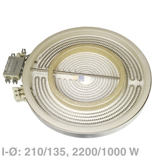 Klick zeigt Details von Ceranfeld Elektroherd Kochplatte HiLight Bosch Constructa EGO Gaggenau Neff Siemens Junker&Ruh