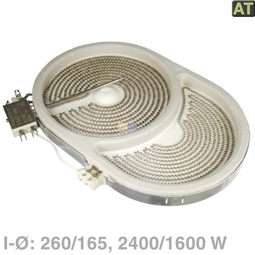 Klick zeigt Details von HighLight-Heizkörper oval, 2400/1600 W