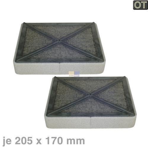 Klick zeigt Details von Kohlefilter 205x170mm Miele, 2 Stück