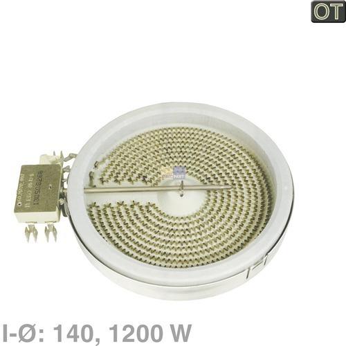 Klick zeigt Details von Heizkörper 140 mm Ø HiLight AEG EGO Juno Matura Privileg Quelle Electrolux