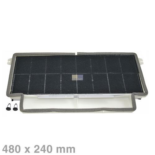Klick zeigt Details von Aktivkohlefilter Dunstabzugshaube 460028 Bosch 480x240mm komplett