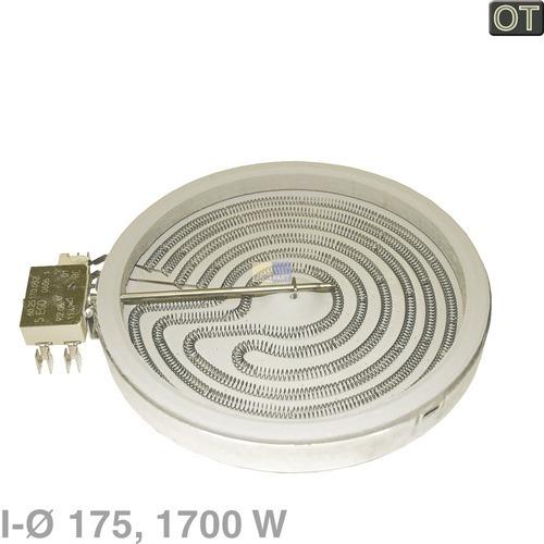 Klick zeigt Details von Strahlheizkörper 175mmØ 1700W 230V, OT!