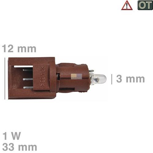 Klick zeigt Details von Anzeige-Lampe SGF83/2 kpl. MIELE 4030970