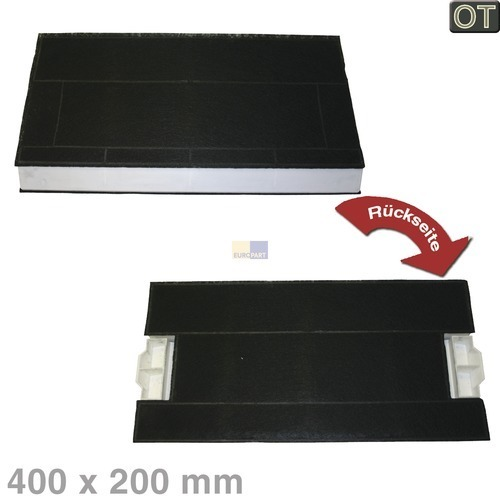 Klick zeigt Details von Aktivkohlefilter 400x175/200mm  BSH 00434229