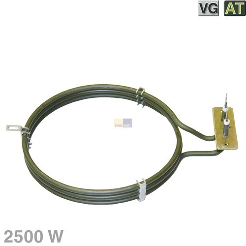 Heizelement Heißluft 2500W 230V, AT! VG!, passend u.a. wie Miele, Electrolux-Konzern/Zanussi...