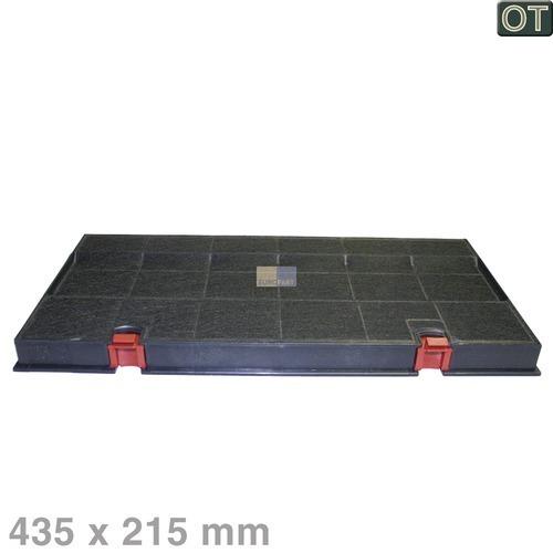 Klick zeigt Details von Aktivkohlefilter 435x215mm BSH 460450