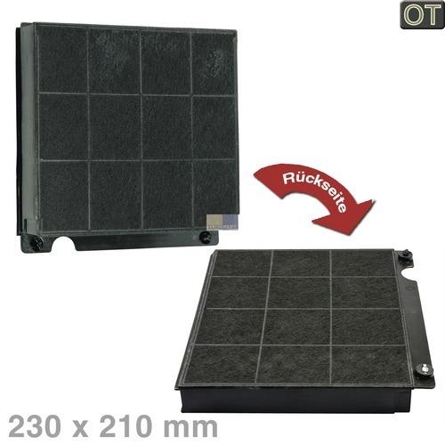 Klick zeigt Details von Kohlefilter 230x210mm Electrolux, OT!